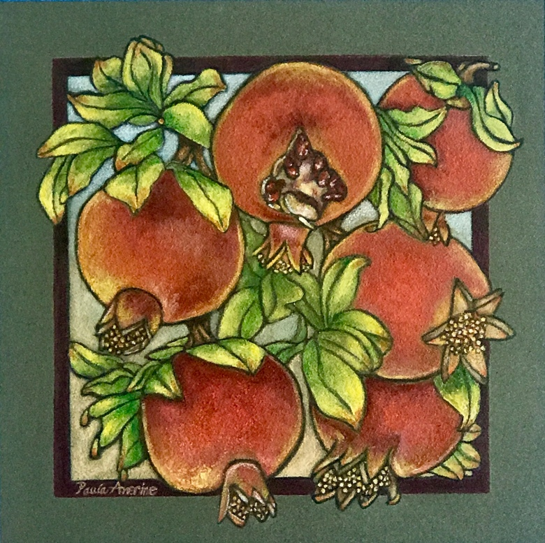 Persimmons squared